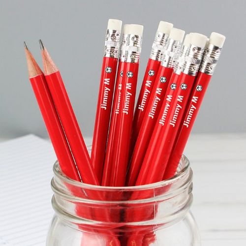 Football Motif Red Pencils